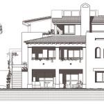 Alçat sud. Projecte d'obra nova i disseny 3D: 2012 - Habitatge unifamiliar aïllat a Arenys de Mar