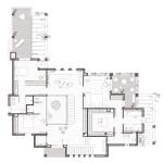 Planta primera. Projecte d'obra nova i disseny 3D: 2012 - Habitatge unifamiliar aïllat a Arenys de Mar