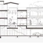 Secció tranversal. Projecte d'obra nova i disseny 3D: 2012 - Habitatge unifamiliar aïllat a Arenys de Mar