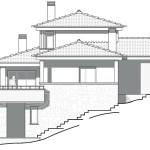 Façana sud. Projecte d'obra nova: 1993 - Habitatge unifamiliar aïllat a Matadepera