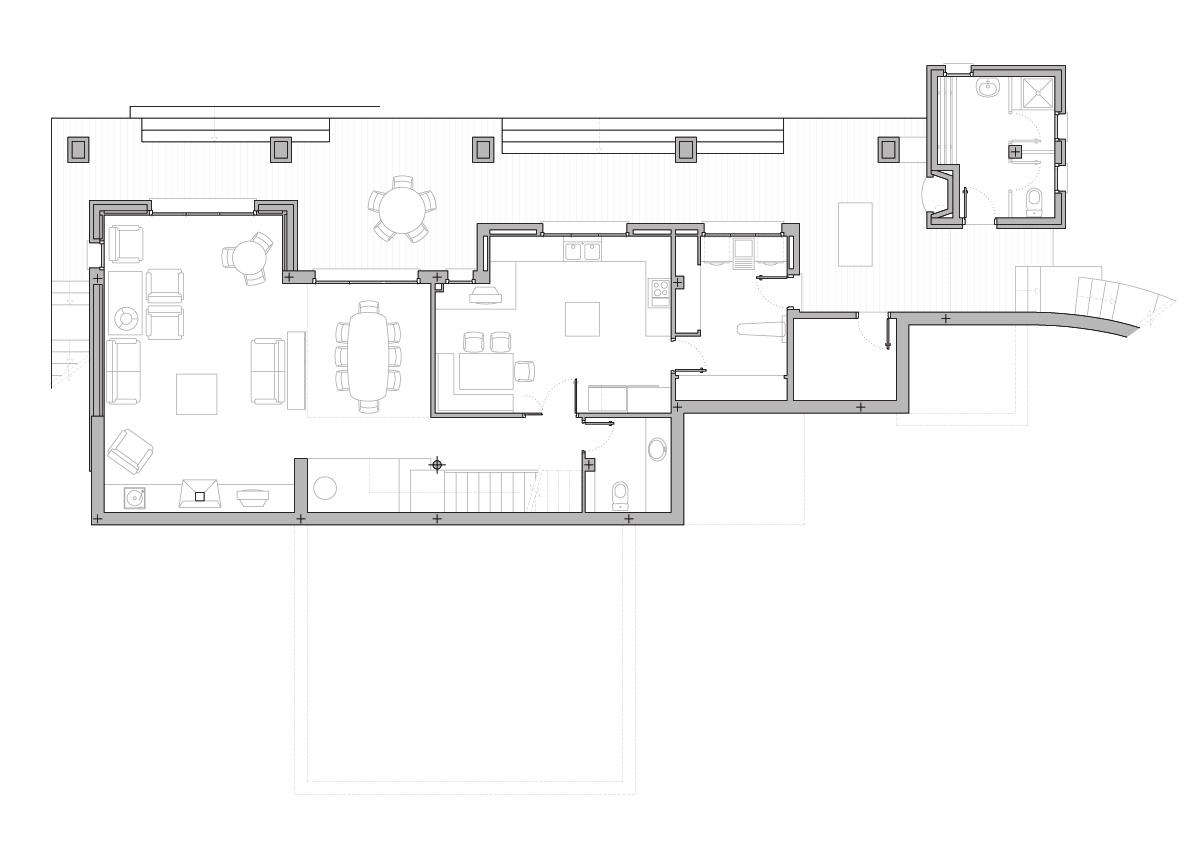 Planta 0. Projecte d'obra nova: 1993 - Habitatge unifamiliar aïllat a Matadepera