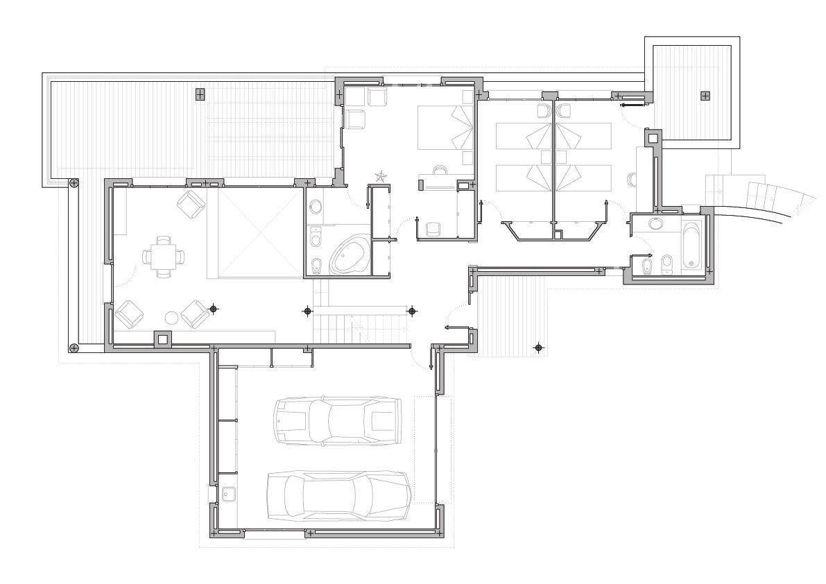 Planta 1. Projecte d'obra nova: 1993 - Habitatge unifamiliar aïllat a Matadepera