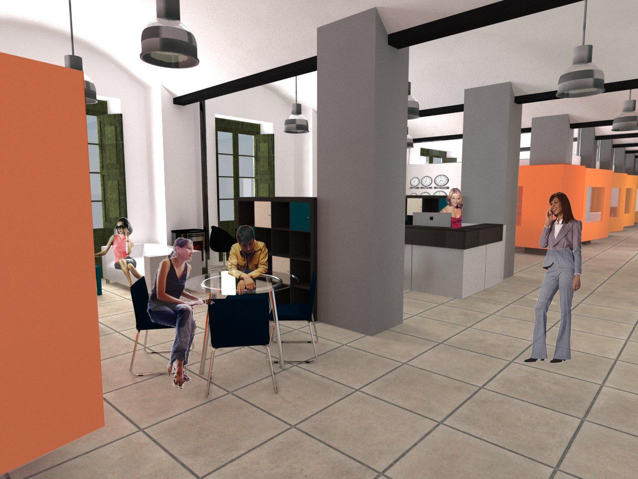 Hall. Projecte de reforma i disseny 3D: 2013 - Formació d'un Viver d'empreses a la planta segona de l'Edifici Xifré d'Arenys de Mar