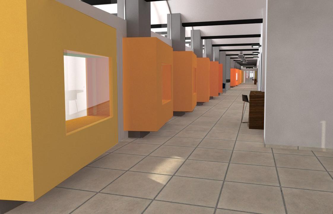 Passadís. Projecte de reforma i disseny 3D: 2013 - Formació d'un Viver d'empreses a la planta segona de l'Edifici Xifré d'Arenys de Mar