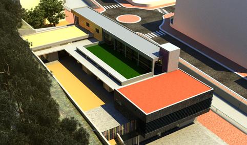 Vista aèria. Projecte d'obra nova: 2009 Escola Bressol