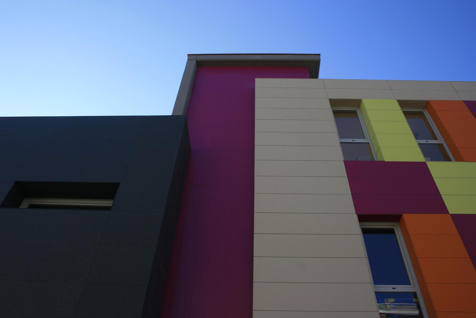Fotografia façana principal. Projecte d'obra nova: 2009 Escola Bressol
