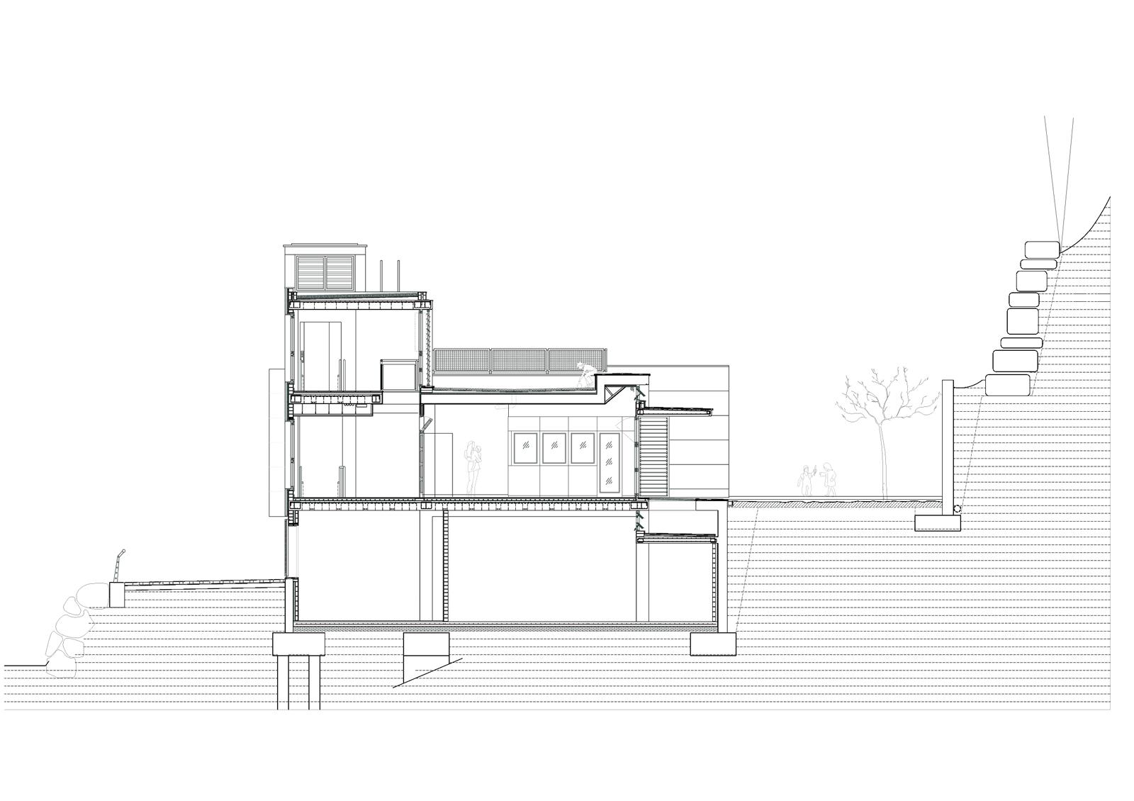 Secció transversal. Projecte d'obra nova: 2009 Escola Bressol