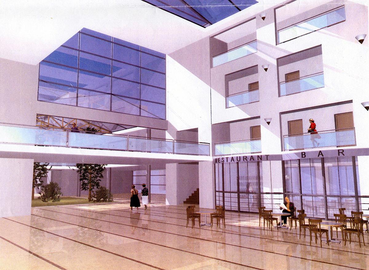 Disseny 3D interiors. Projecte d'obra nova: 2006 Conjunt gerontològic i assistencial