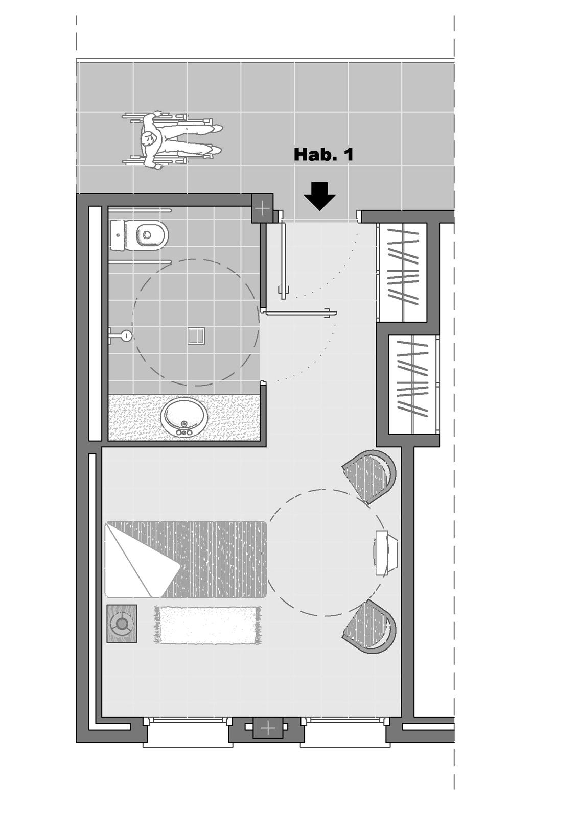 Habitació. Projecte d'obra nova: 2006 Conjunt gerontològic i assistencial