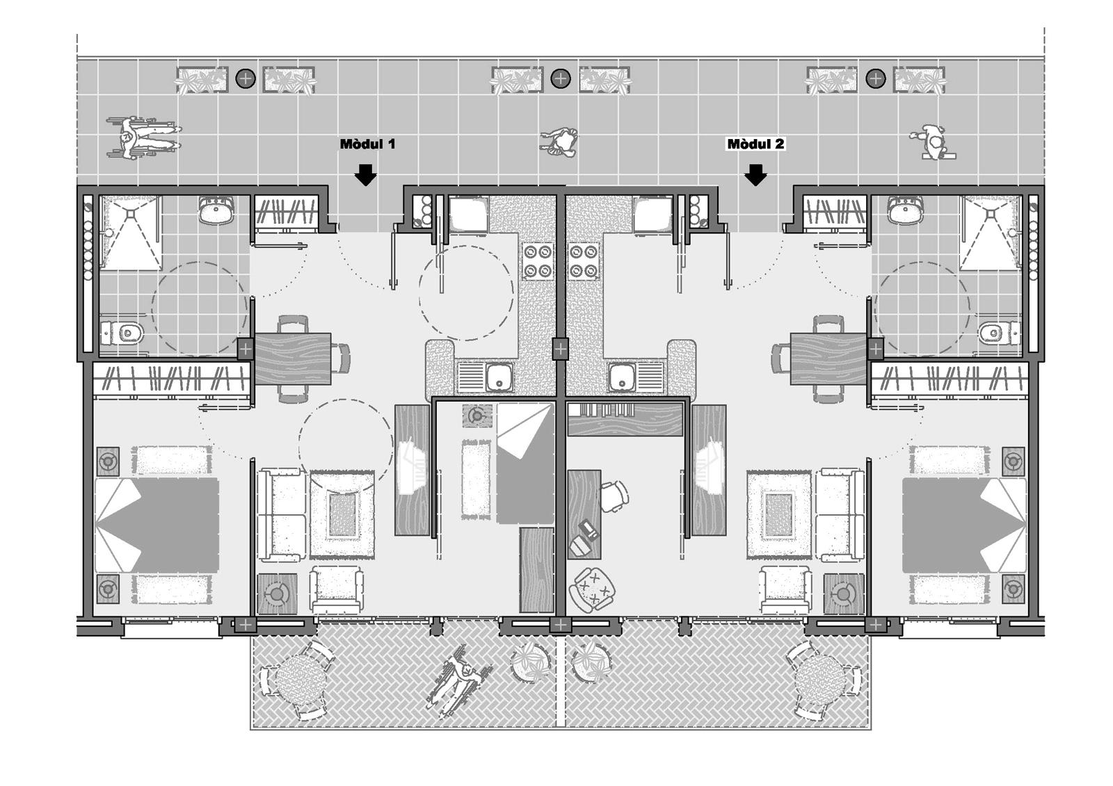 Habitacions. Projecte d'obra nova: 2006 Conjunt gerontològic i assistencial