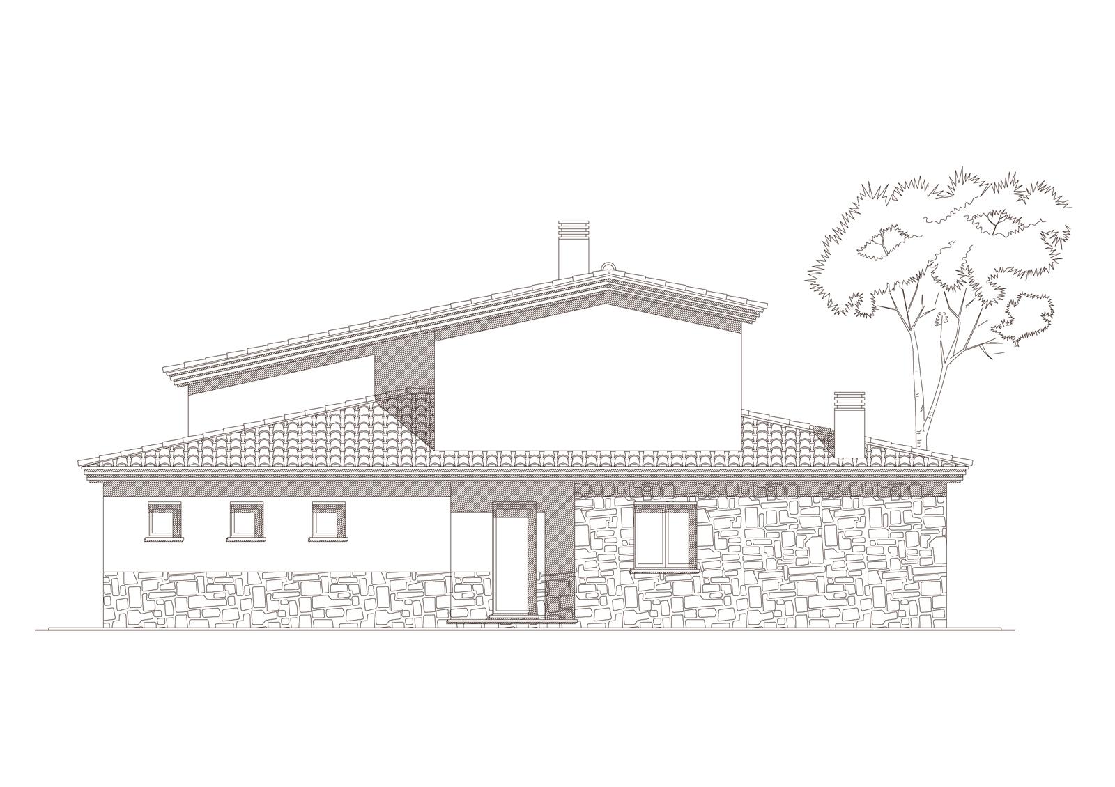 Alçat nord. Projecte d'obra nova: 1998 Habitatge unifamiliar aïllat