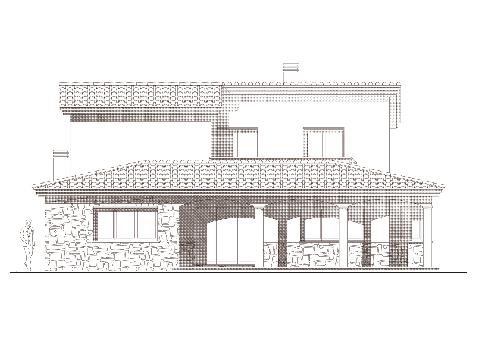 Alçat oest. Projecte d'obra nova: 1998 Habitatge unifamiliar aïllat