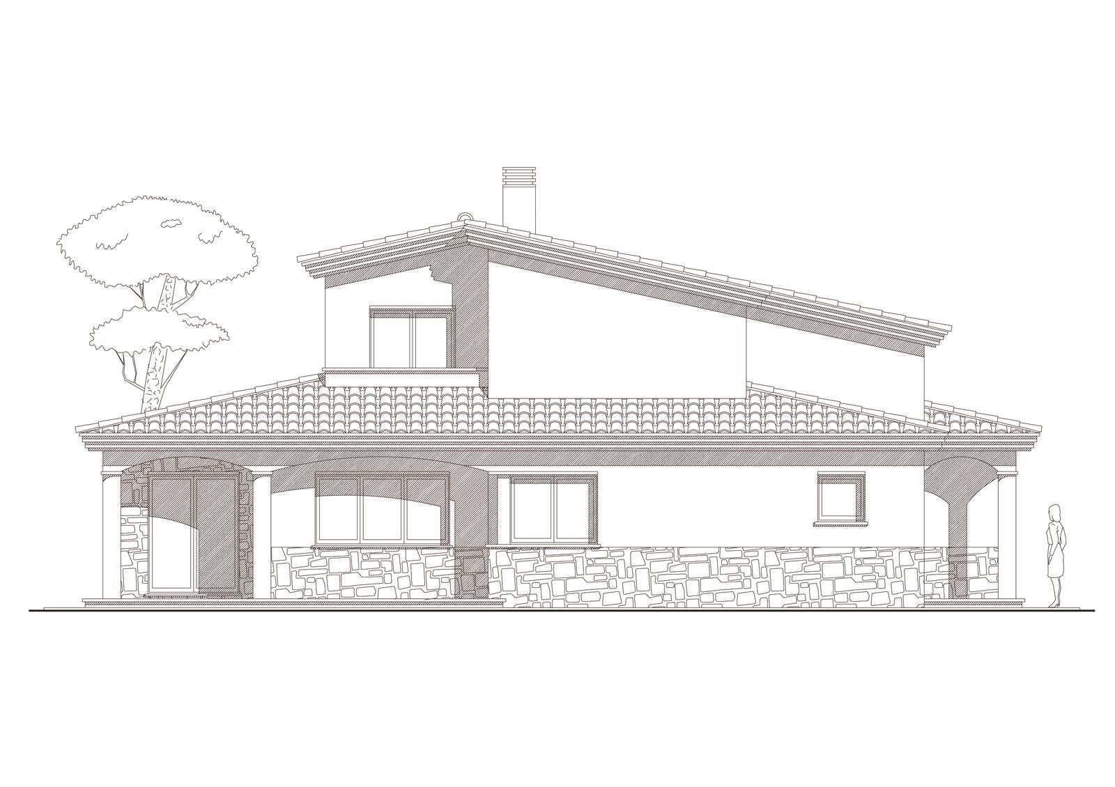 Alçat sud. Projecte d'obra nova: 1998 Habitatge unifamiliar aïllat