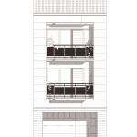 Façana. Projecte d'obra nova: 1998 Habitatge unifamiliar entre mitgeres