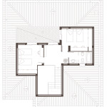 Planta superior. Projecte d'obra nova: 1998 Habitatge unifamiliar aïllat