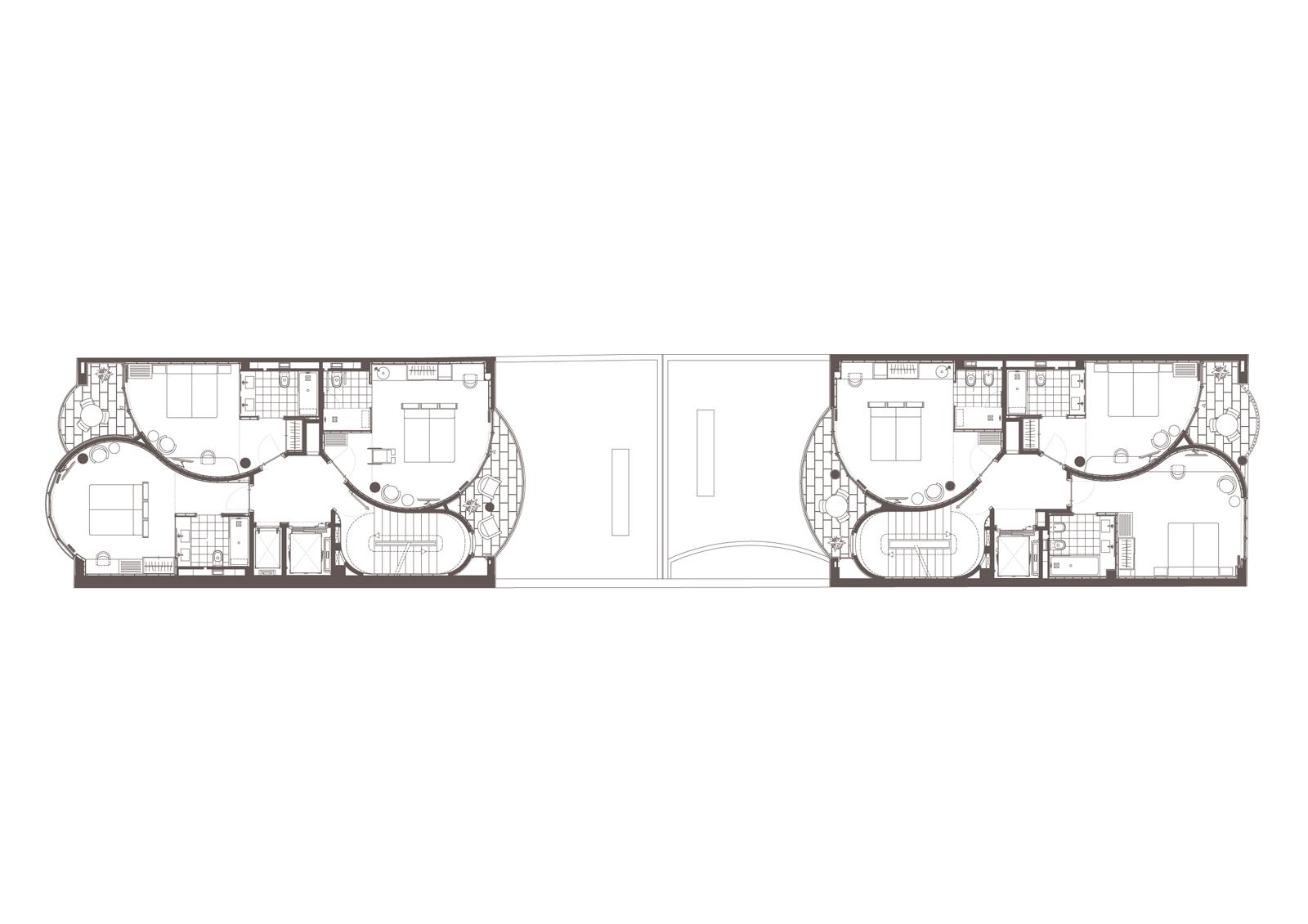 Planta 2. Projecte d'obra nova: 2015 Hotel de 4* entre mitgeres