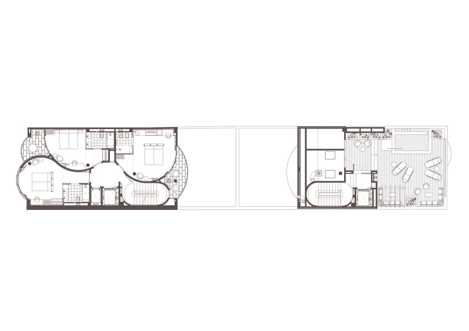 Planta 3. Projecte d'obra nova: 2015 Hotel de 4* entre mitgeres