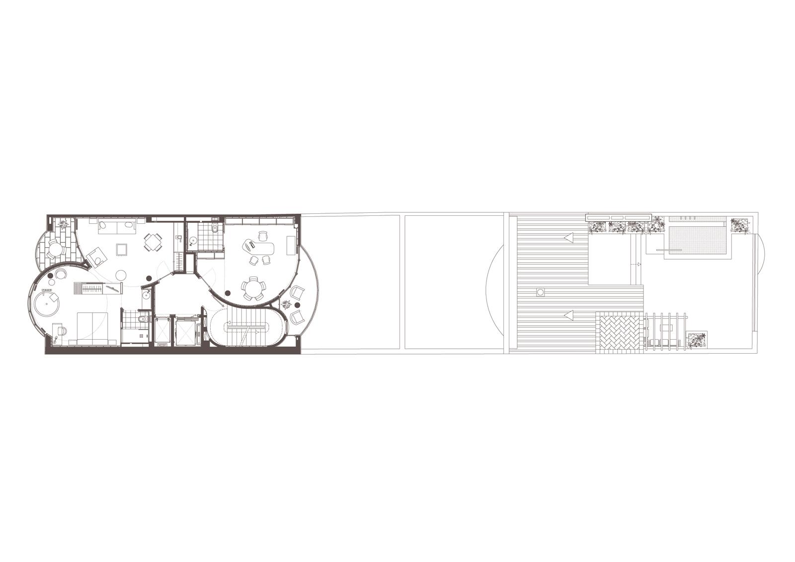 Planta 4. Projecte d'obra nova: 2015 Hotel de 4* entre mitgeres
