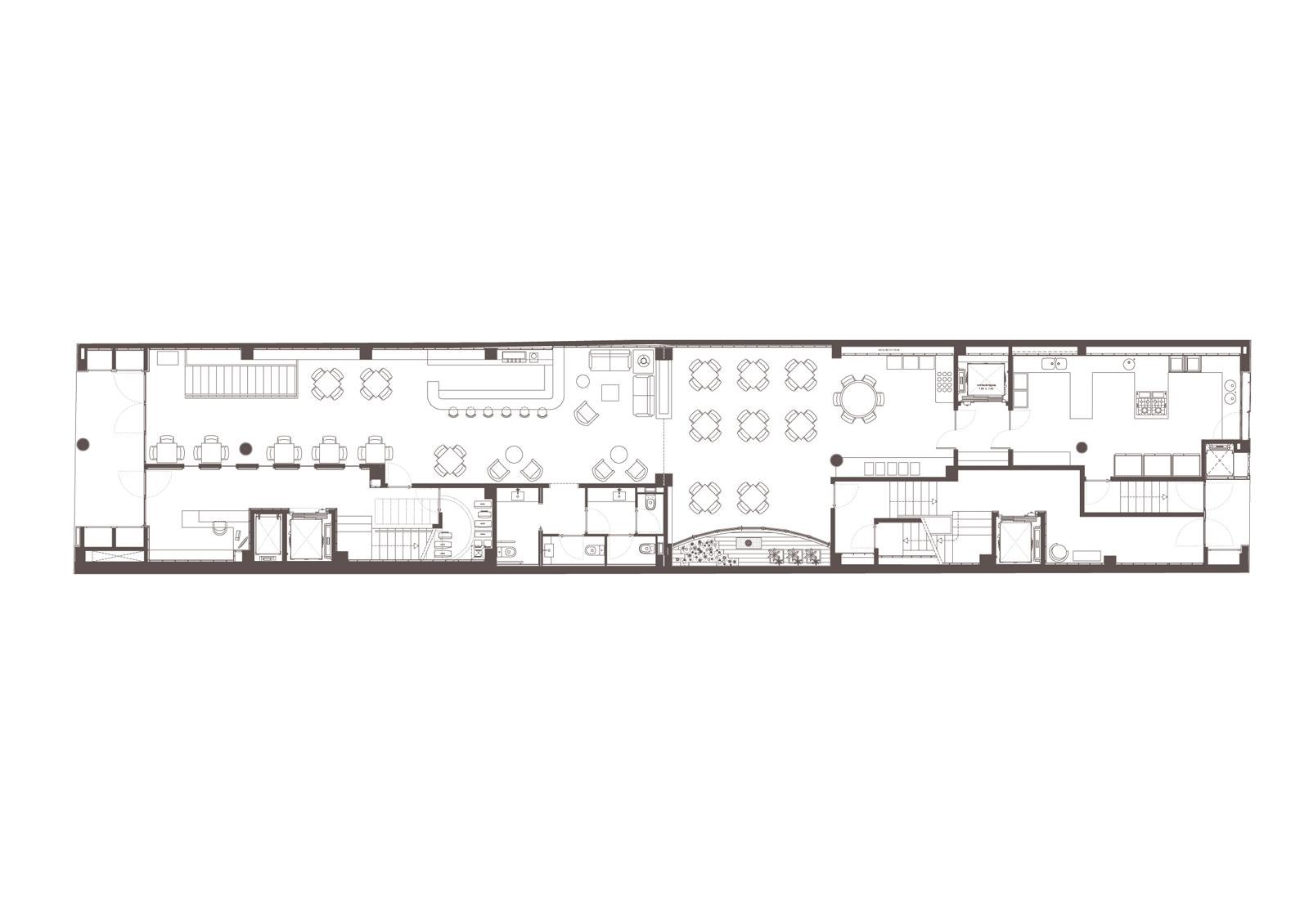 Planta baixa. Projecte d'obra nova: 2015 Hotel de 4* entre mitgeres
