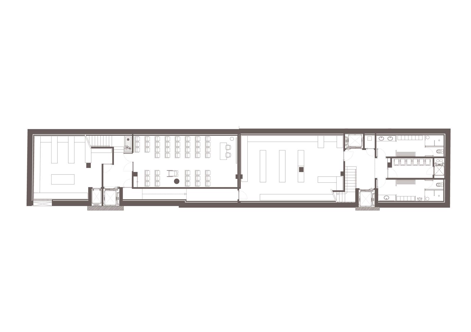 Planta soterrani. Projecte d'obra nova: 2015 Hotel de 4* entre mitgeres