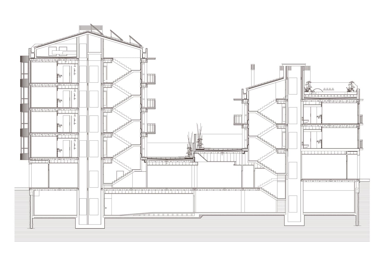 Secció. Projecte d'obra nova: 2015 Hotel de 4* entre mitgeres