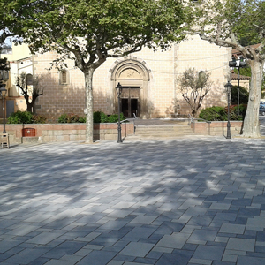 Reparation of the church's square in Arenys de Munt